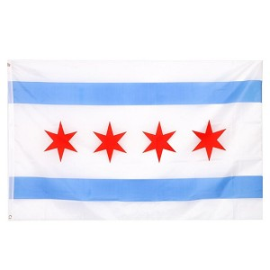 City of Chicago Flag Wall Hanging