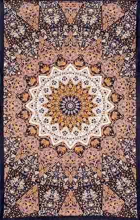 Dark Star Indian Earth Tapestry
