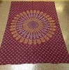 Maroon Mandala Indian Print Tapestry