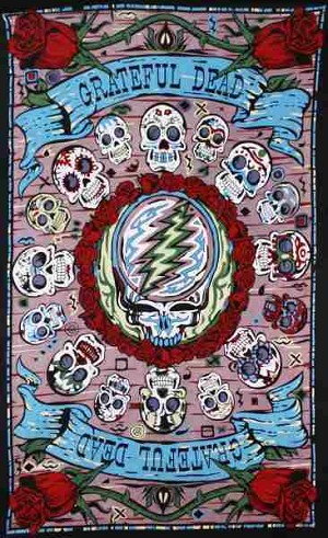 Grateful Dead - 3D Mini Mexicali Skull Tapestry