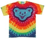 Dancing Bear Head Tie Dye Adult T-Shirt