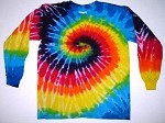Rainbow Spiral Youth Tie Dye Long Sleeve T-Shirt