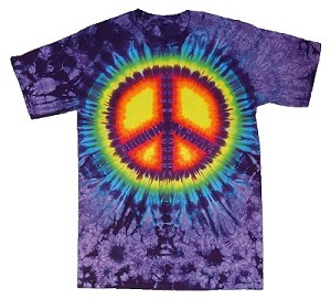 Purple Peace Youth Tie Dye T-Shirt