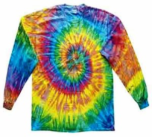 Saturn Tie Dye Long Sleeve Adult T-Shirt