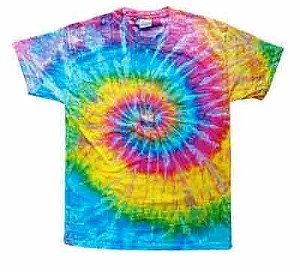 Saturn Spiral Tie Dye Adult T-Shirt
