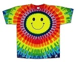 Smiley Face Tie Dye Adult T-Shirt