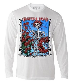 Grateful Dead - Bertha Wheel & Roses T-Shirt Long Sleeve