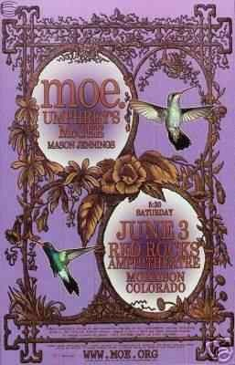 Moe. and Umphrey's McGee - Red Rocks 2006 Concert Poster