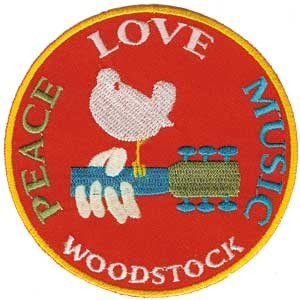 Woodstock Festival Embroidered Patch